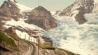 Photo of Az olvadó svájci gleccserek 150 éve és most