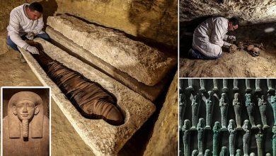 Photo of Szarkofágokkal teli sírokra bukkantak egy háromezer éves temetkezési hely feltárásakor