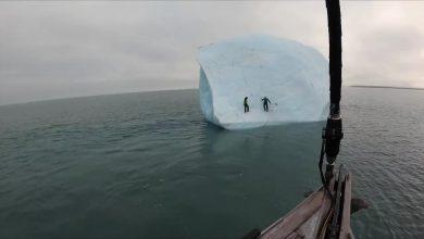Photo of Átfordult a jéghegy, miközben meg akarták mászni – videó