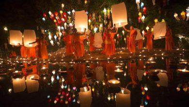 Photo of Ezer lámpa szállt a magasba Thaiföldön teliholdkor