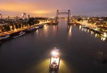 Photo of Így jut el egy hajó Rotterdamból Amszterdamba – Látványos timelaps videó 30 méter magasból