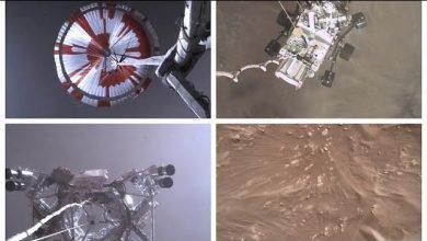 Photo of Lenyűgöző felvételek a Perseverance marsjáró landolásáról