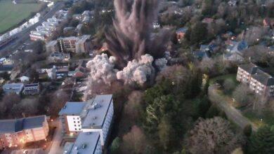 Photo of Hatalmas erővel robbant fel egy város közepén talált 1 tonnás II. Világháborús bomba
