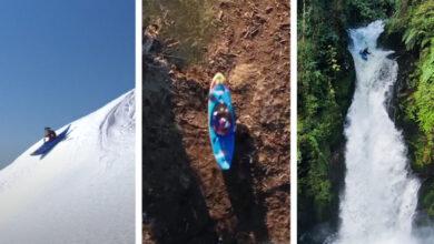 Photo of Őrült kajakos száguldás hóban, erdőben és vízesésen keresztül – videó