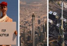 Photo of A világ legmagasabb épületének a tetején állva forgattak egy reklámfilmet
