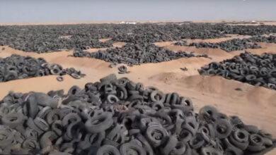 Photo of A világ legnagyobb autógumi-temetőjét próbálják felszámolni Kuvaitban